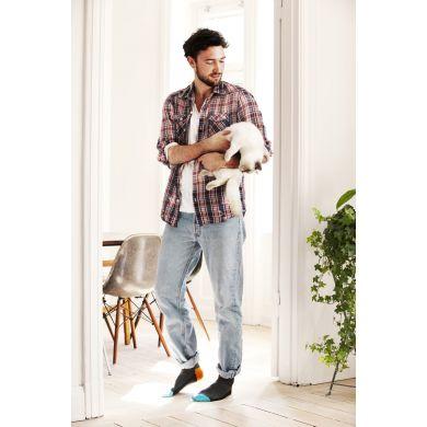 Šedé ponožky Happy Socks s barevným vzorem Five Color