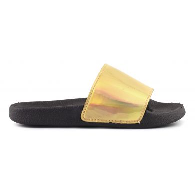 Eva Slipper With Metal Upper Black