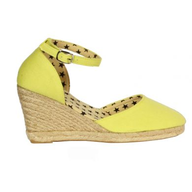 Jute Wedge With Ankle Strap Lime