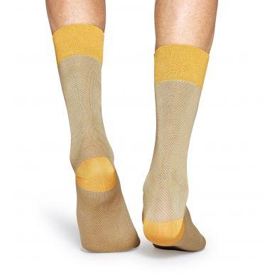 Žluté ponožky Happy Socks se vzorem Herringbone // kolekce Dressed