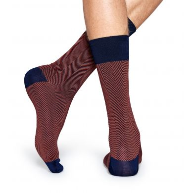 Hnědé ponožky Happy Socks se vzorem Herringbone // kolekce Dressed