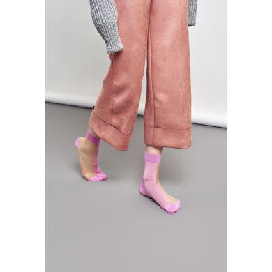 Dámské růžové ponožky Happy Socks Filippa // kolekce Hysteria