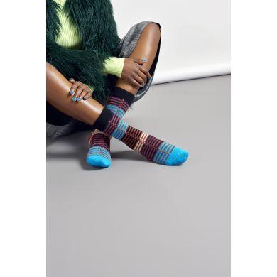 Dámské barevné (modré) ponožky Happy Socks Ellinor // kolekce Hysteria