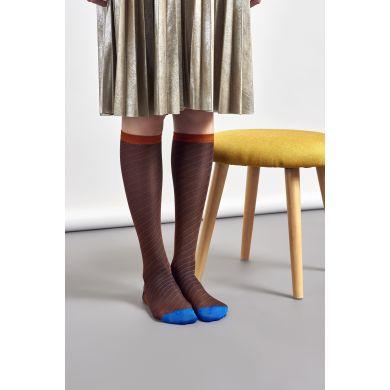Dámské hnědé ponožky Happy Socks Alma // kolekce Hysteria