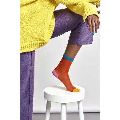 Dámské oranžové ponožky Happy Socks Frankie // kolekce Hysteria