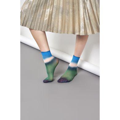 Dámské zeleno-modré ponožky Happy Socks Mia // kolekce Hysteria