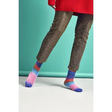 Dámské růžovo-modré ponožky Happy Socks Mia // kolekce Hysteria