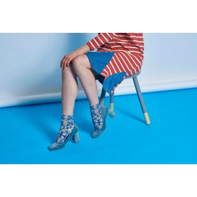 Dámské modré teplé ponožky Happy Socks Emilia  // kolekce Hysteria