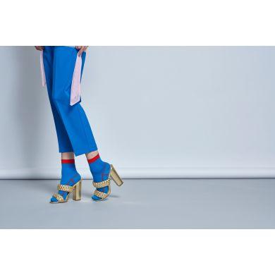 Dámské modré ponožky Happy Socks Lily  // kolekce Hysteria