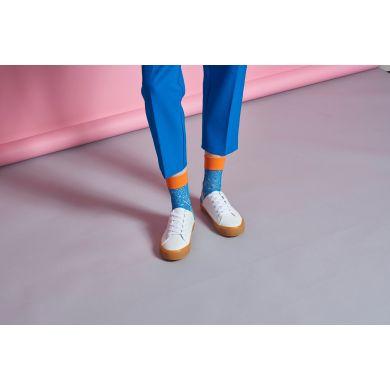 Dámské modré síťované ponožky Happy Socks Nina  // kolekce Hysteria