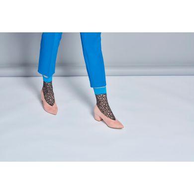 Dámské černé síťované ponožky Happy Socks Nina  // kolekce Hysteria