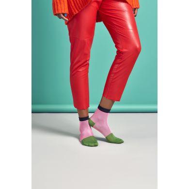 Dámské růžovo-zelené ponožky Happy Socks Janna // kolekce Hysteria