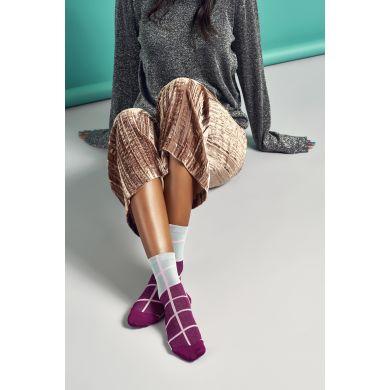 Dámské růžovo-šedé ponožky Happy Socks Karen // kolekce Hysteria