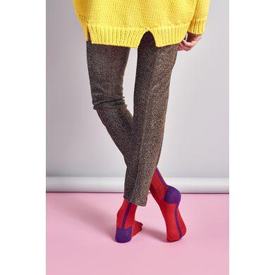 Dámské červené ponožky Happy Socks Gigi // kolekce Hysteria