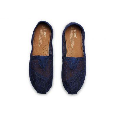 Modré dámské krajkové TOMS Alpargatas