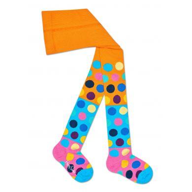 Dětské barevné punčochy Happy Socks s puntíky, vzor Big Dot Block