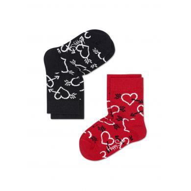 Dětské barevné ponožky Happy Socks, dva páry - Arrows and Hearts