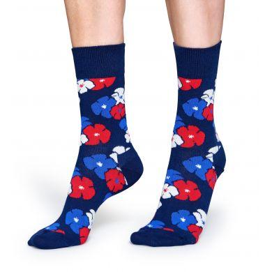 Modré ponožky Happy Socks s barevným vzorem Kimono