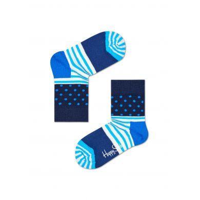 Dětské modré ponožky Happy Socks se vzorem Stripe Dot