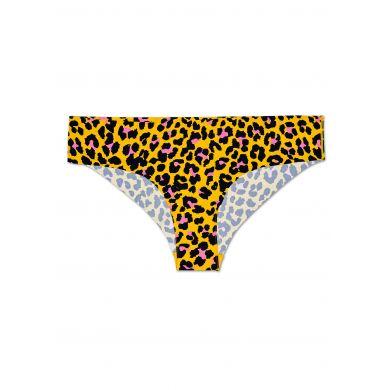 Žluté cheeky kalhotky Happy Socks s černým vzorem Leopard