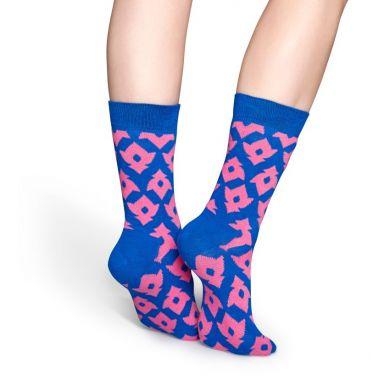 Růžovo-modré ponožky Happy Socks, vzor Lily