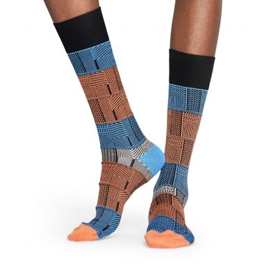 Oranžovo-modré ponožky Happy Socks, vzor Mix
