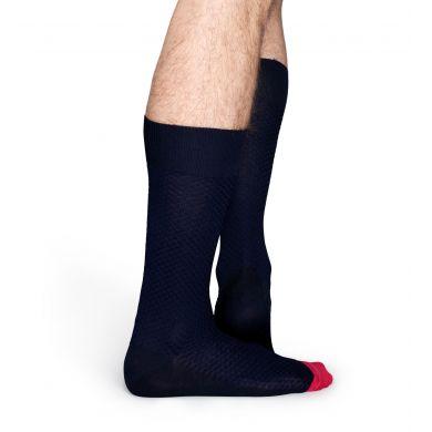 Modré ponožky Happy Socks, vzor Moss Knit // kolekce Dressed
