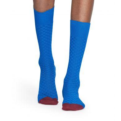 Světle modré ponožky Happy Socks, vzor Moss Knit // kolekce Dressed