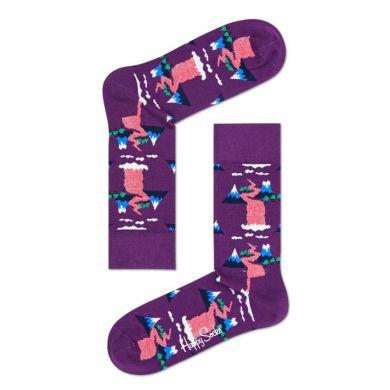 Fialové ponožky Happy Socks, vzor Mountain // kolekce Special Special