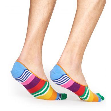 Nízké ponožky Happy Socks, vzor Multi Stripe (modro-červené) - 3 páry