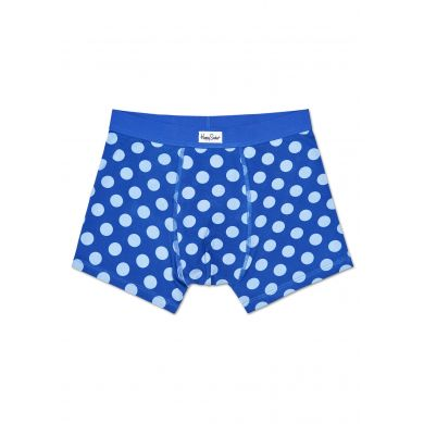 Modré boxerky Happy Socks s modrými puntíky, vzor Big Dot