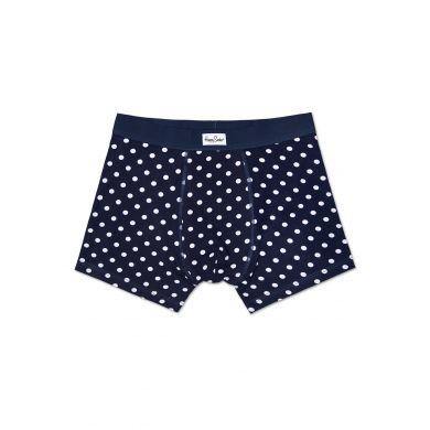 Modré boxerky Happy Socks s bílými tečkami, vzor Dot