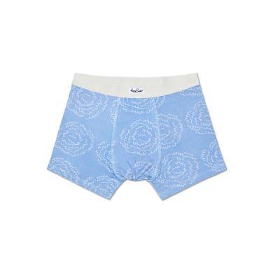 Modré boxerky Happy Socks s vlnkami, vzor Poof