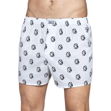 Bílé trenýrky Happy Socks se vzorem Astronaut // kolekce Billionare Boys Club