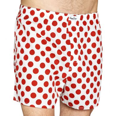 Big Dot Woven Boxer - White/Red