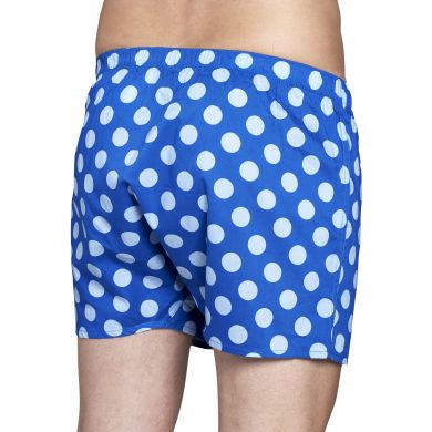 Modré trenýrky Happy Socks s modrými puntíky, vzor Big Dot