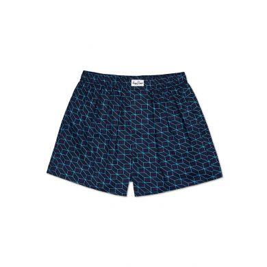 Modré trenýrky Happy Socks s tyrkysovým vzorem Optic