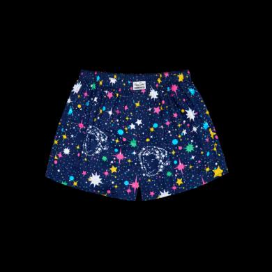 Modré trenýrky Happy Socks s vesmírným vzorem Space // kolekce Billionare Boys Club