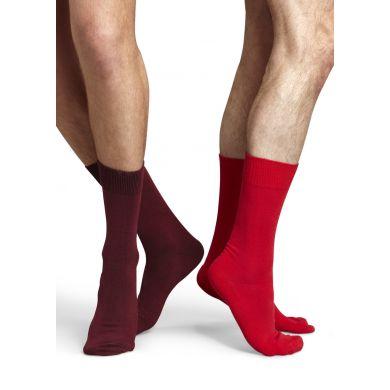 Červené/vínové ponožky Happy Socks One Color, dva páry