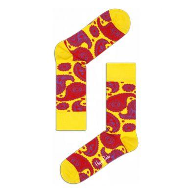 Modré ponožky Happy Socks se žlutým vzorem Paisley
