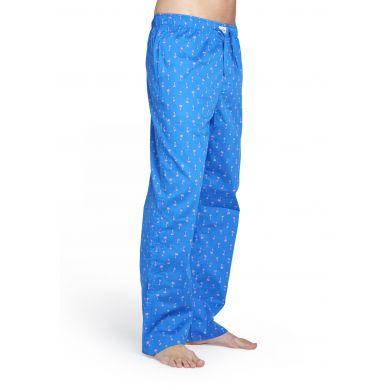 Modré kalhoty Happy Socks s růžovými palmami, vzor Palm beach