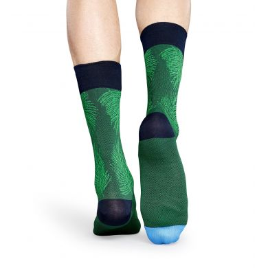 Zelené ponožky Happy Socks, vzor Palm // kolekce Dressed