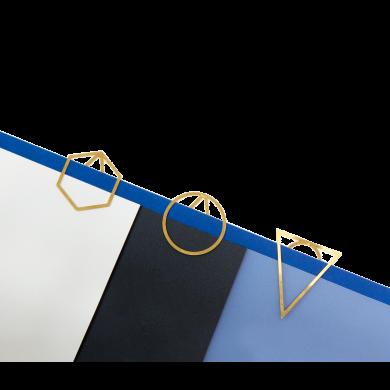 Kancelářské sponky Fundamental Berlin Paperclips 3 Set - trojbalení