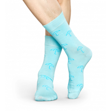Světle modré ponožky Happy Socks se vzorem Umbrella