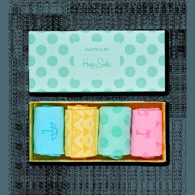 Dárkový box ponožek Happy Socks Pastel - 4 páry