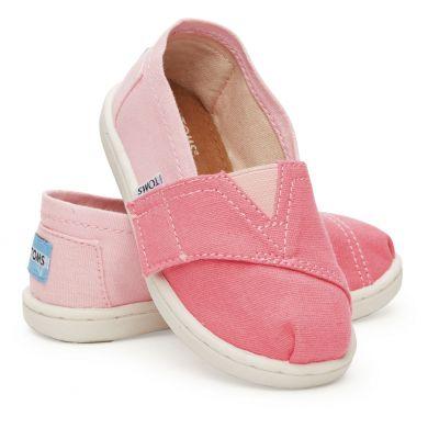 Dětské růžové TOMS Tiny Alpargata