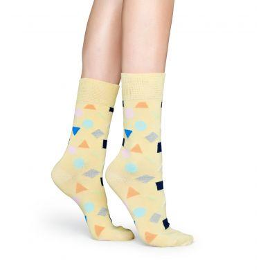 Žluté ponožky Happy Socks s barevným vzorem Play