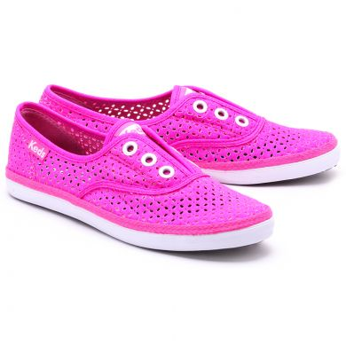 Rookie Laceless Perf Neon Pink