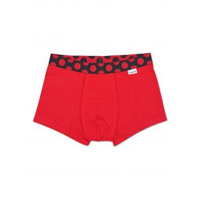 Černo-červené Solid boxerky Happy Socks s červenými puntíky