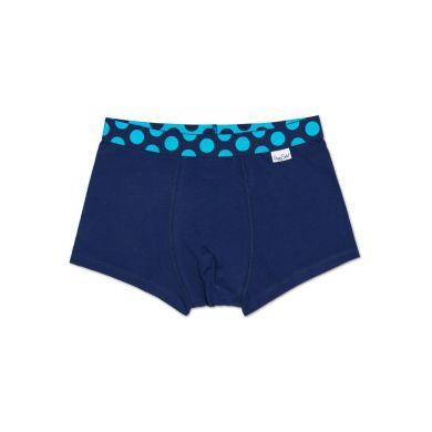 Modré Solid boxerky Happy Socks s tyrkysovými puntíky